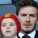 David Beckham with his youngest son Cruz