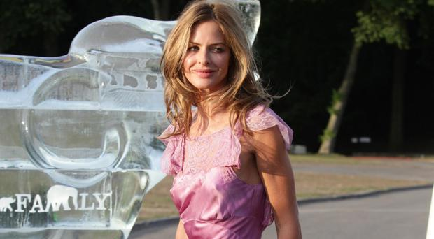 Trinny Woodall posted the wardrobe malfunction clip on Facebook