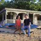 Josephine Jobert as Florence and Ardal O'Hanlon as Jack Mooney in Death In Paradise