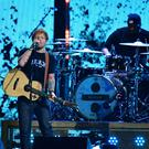 Ed Sheeran performs at the Brit Awards