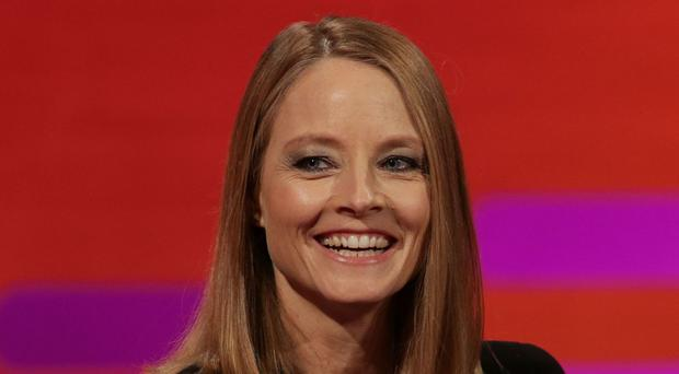 Jodie Foster spoke to demonstrators outside the Beverly Hills headquarters of United Talent Agency, which cancelled its Oscars party to stage the protest (So TV/PA)