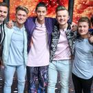 Gary Barlow (left) with Let It Shine winners Five To Five (BBC)