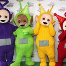 The Teletubbies at the 20th anniversary party at the BFI Southbank in London