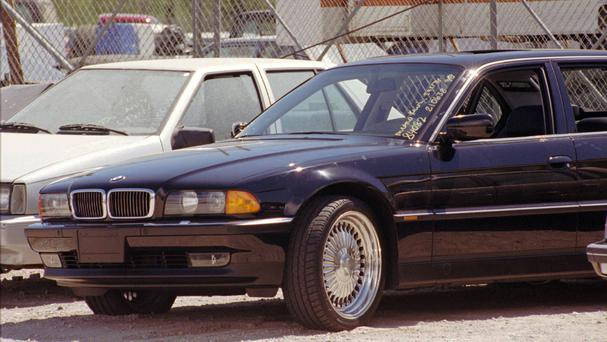 The BMW Tupac Shakur was shot in (AP)