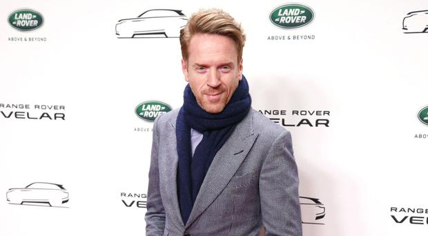Damian Lewis arrives at the Design Museum in London for the launch of the new Range Rover