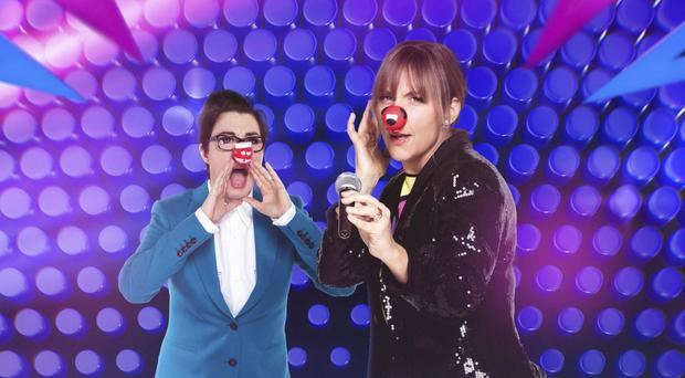 Sue Perkins and Mel Giedroyc hosted Let's Sing And Dance For Comic Relief