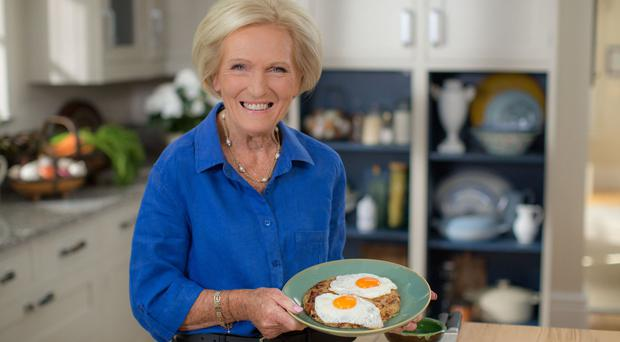 For use in UK, Ireland or Benelux countries only Undated BBC handout photo of a scene from the new programme, Mary Berry Everyday, where TV chef Mary Berry shares some personal family memories as she journeys back to her childhood.