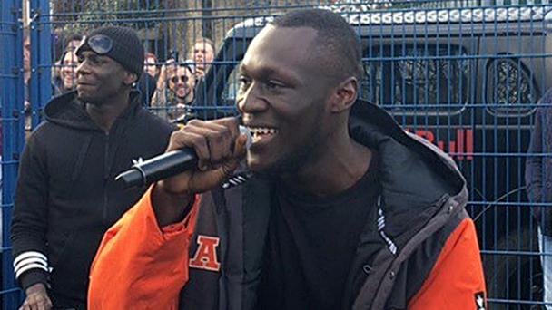 Grime MC Stormzy says he recently had the front door of his west London house broken down by the Metropolitan Police