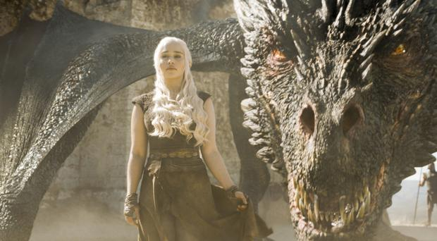 Emilia Clarke as Daenerys in Game of Thrones (Sky)