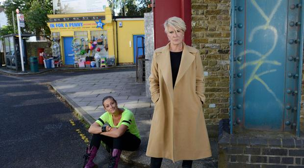 Linda Henry as Shirley Carter in EastEnders (BBC)