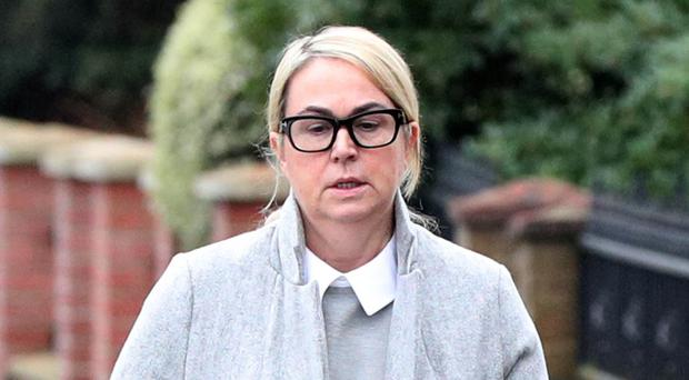 Caron Westbrook arrives at Isleworth Crown Court in west London