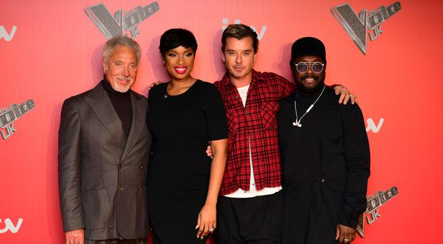 Coaches Sir Tom Jones, Jennifer Hudson, Gavin Rossdale and Will.i.am