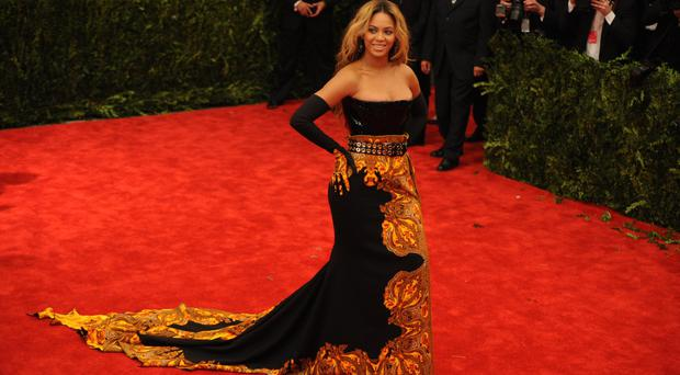 Beyonce attends the 'Punk': Chaos to Couture' Costume Institute Benefit Met Gala at the Metropolitan Museum in New York.