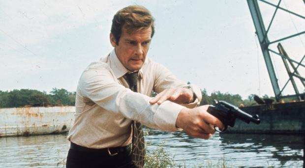 Moore as 007 in Live And Let Die