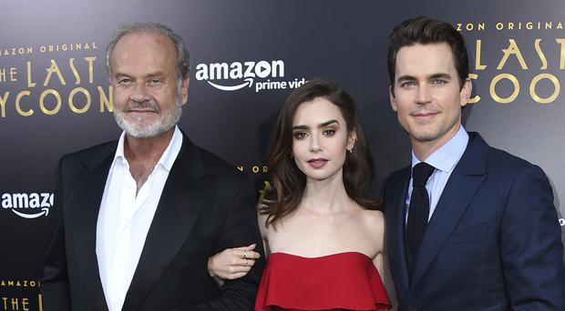Kelsey Grammer, Lily Colins and Matt Bomer at The Last Tycoon premiere (Jordan Strauss/AP)