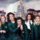 The cast of Derry Girls, who are the new the standard bearers for the city