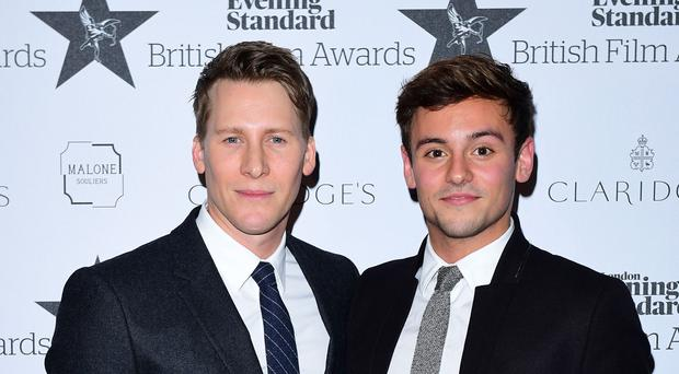 Tom Daley (right) and Dustin Lance Black