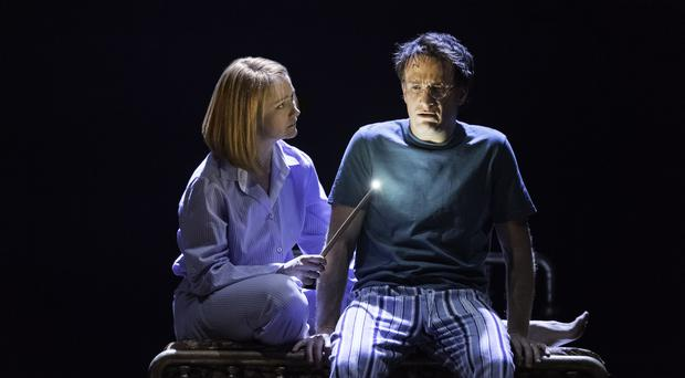 Poppy Miller as Ginny Potter and Jamie Parker as Harry Potter (Manuel Harlan/PA)