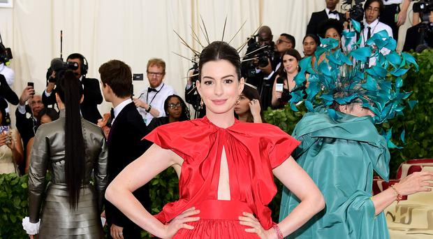 Anne Hathaway lent her support to the #WearOrange movement (Ian West/PA Wire)