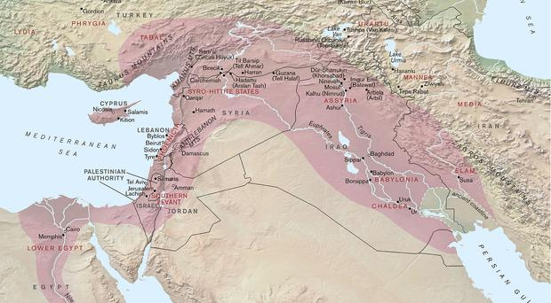 A map of the Assyrian Empire (British Museum)