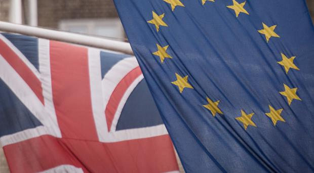 The Union flag will no longer fly on Europe Day. (Jane Barlow/PA)