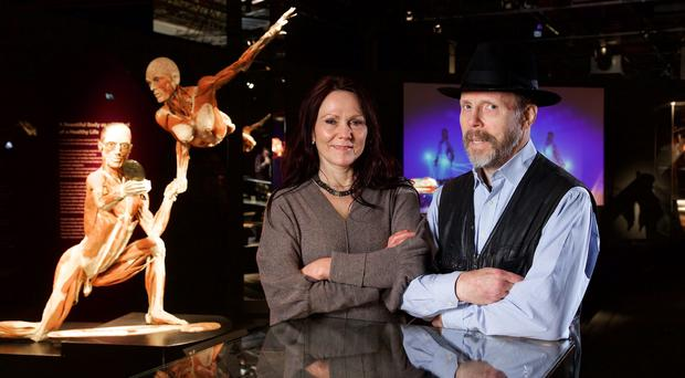 Gunther von Hagens and Dr Angelina Whalley (Body Worlds/PA)