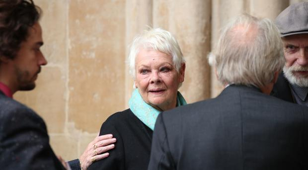 Dame Judi Dench attending a service of thanksgiving to celebrate the life and work of Sir Peter Hall (Yui Mok/PA)