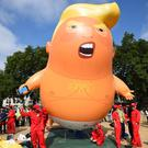 The baby Donald Trump blimp first appeared over the skies of London (Kirsty O'Connor/PA)