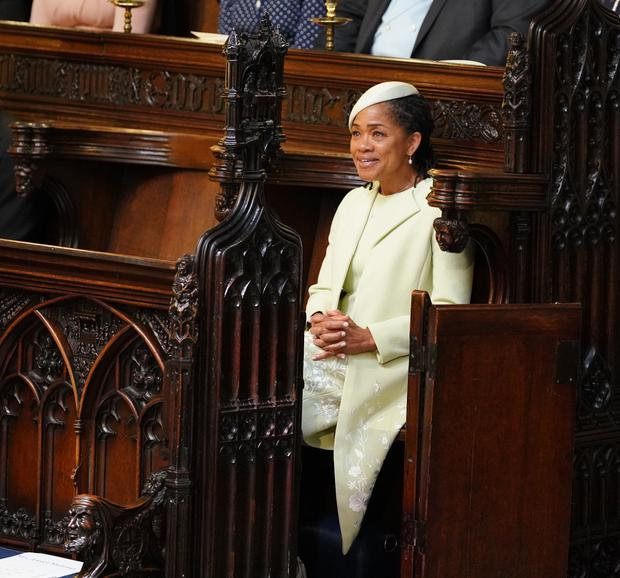The Duchess of Sussex's mother Doria Ragland, seated on her own at the royal wedding (Dominic Lipinski/PA)