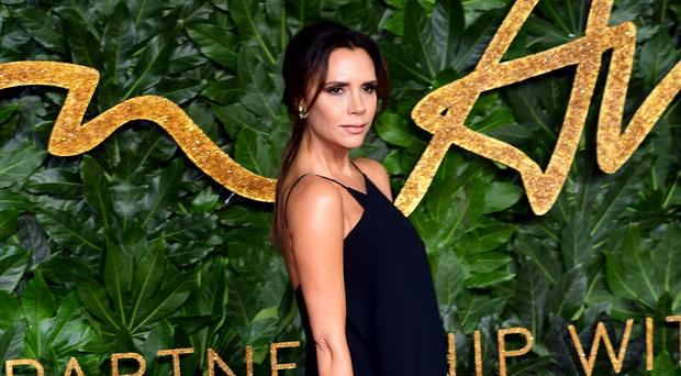 Victoria Beckham shared the adorable note daughter Harper left for Father Christmas (Ian West/PA)