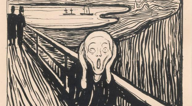 The Scream Lithograph, created by Edvard Munch (British Museum)