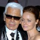 Karl Lagerfeld and Stella McCartney pictured in 2004 (REX).