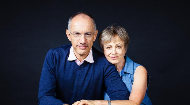 Sir Michael Moritz and his wife Harriet Heyman have been unveiled as the new sponsors of the Booker Prize (Booker Prize Foundation/PA)