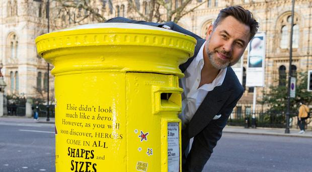 David Walliams's postbox is one of four decorated by Royal Mail in honour of some of Britain's most popular children's authors (Paul Davey/Royal Mail/PA)