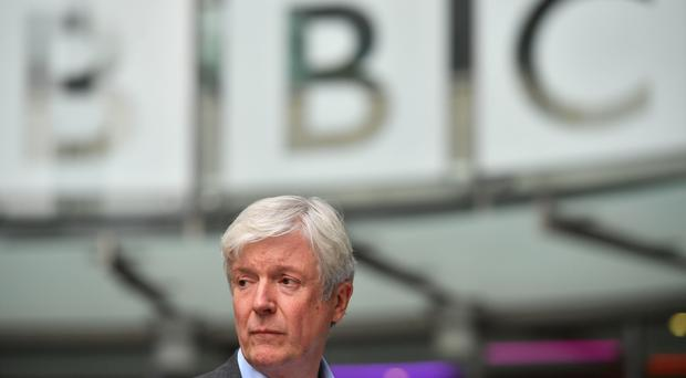 Director-general Tony Hall outside BBC Broadcasting House (Ben Stansall/PA)
