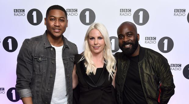 Rickie Williams, Charlie Hedges and Melvin Odoom are taking over the 9-11pm slot from April (Matt Crossick/PA)