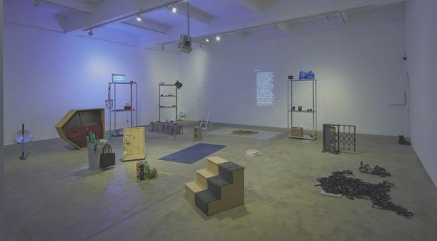 Lawrence Abu Hamdan, installation view of Earwitness Inventory at Chisenhale Gallery (courtesy the artist and Chisenhale Gallery, London. Photo by Andy Keate)