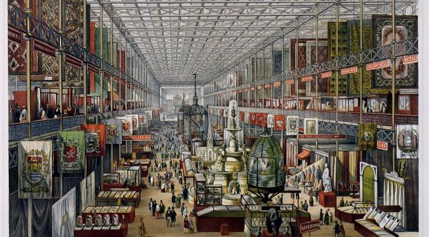 A print showing a view of the Great Exhibition by J McNeven (Victoria and Albert Museum/PA)