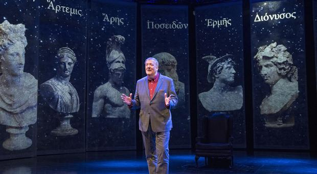 Stephen Fry performs Mythos: A Trilogy (Stephen Fry/PA)