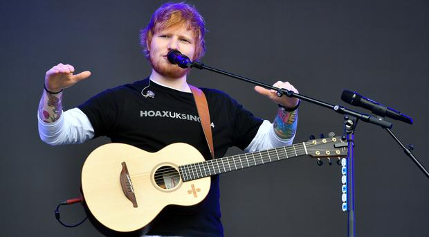 Ed Sheeran was the most-played artist in the UK in 2018 (Ben Birchall/PA)