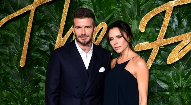 David and Victoria Beckham are celebrating their 20th wedding anniversary (Ian West/PA)
