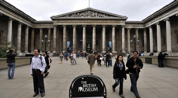 The British Museum's controversial Warren Cup has inspired new artworks with a Pride theme (Tim Ireland/PA)