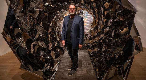 Artist Olafur Eliasson during the preview of his show at Tate Modern in London (Aaron Chown/PA)