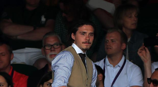 Brooklyn Beckham at Wimbledon (Mike Egerton/PA)