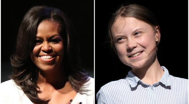 Michelle Obama and Greta Thunberg are in the running (Yui Mok/PA/Paul Chiasson/AP)