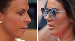 File photos of Coleen Rooney (left) who has accused Rebekah Vardy (right) of selling stories from her private Instagram account to the tabloids.
