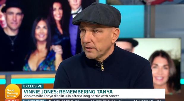 Vinnie Jones becomes emotional in first TV interview since wife's death (ITV/Good Morning Britain)