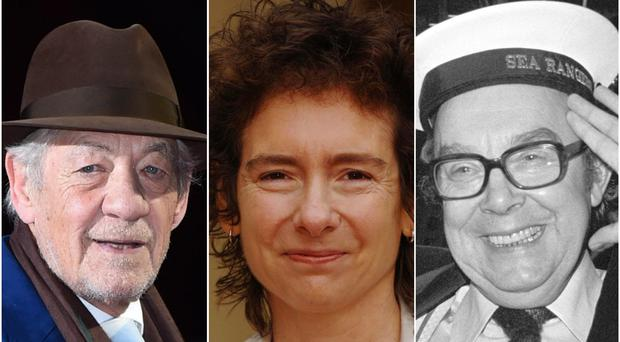 Lancashire cultural figures Sir Ian McKellen, Jeanette Winterson and the late Eric Morecambe (Matt Crossick/Fiona Hanson/PA)
