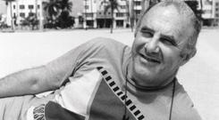 Clive James in the BBC TV series Postcard From Miami (PA)