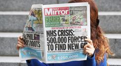 Daily Mirror owner Reach saw shares jump higher after it pulled out of talks to buy assets from rival JPI (Jonathan Brady/PA)